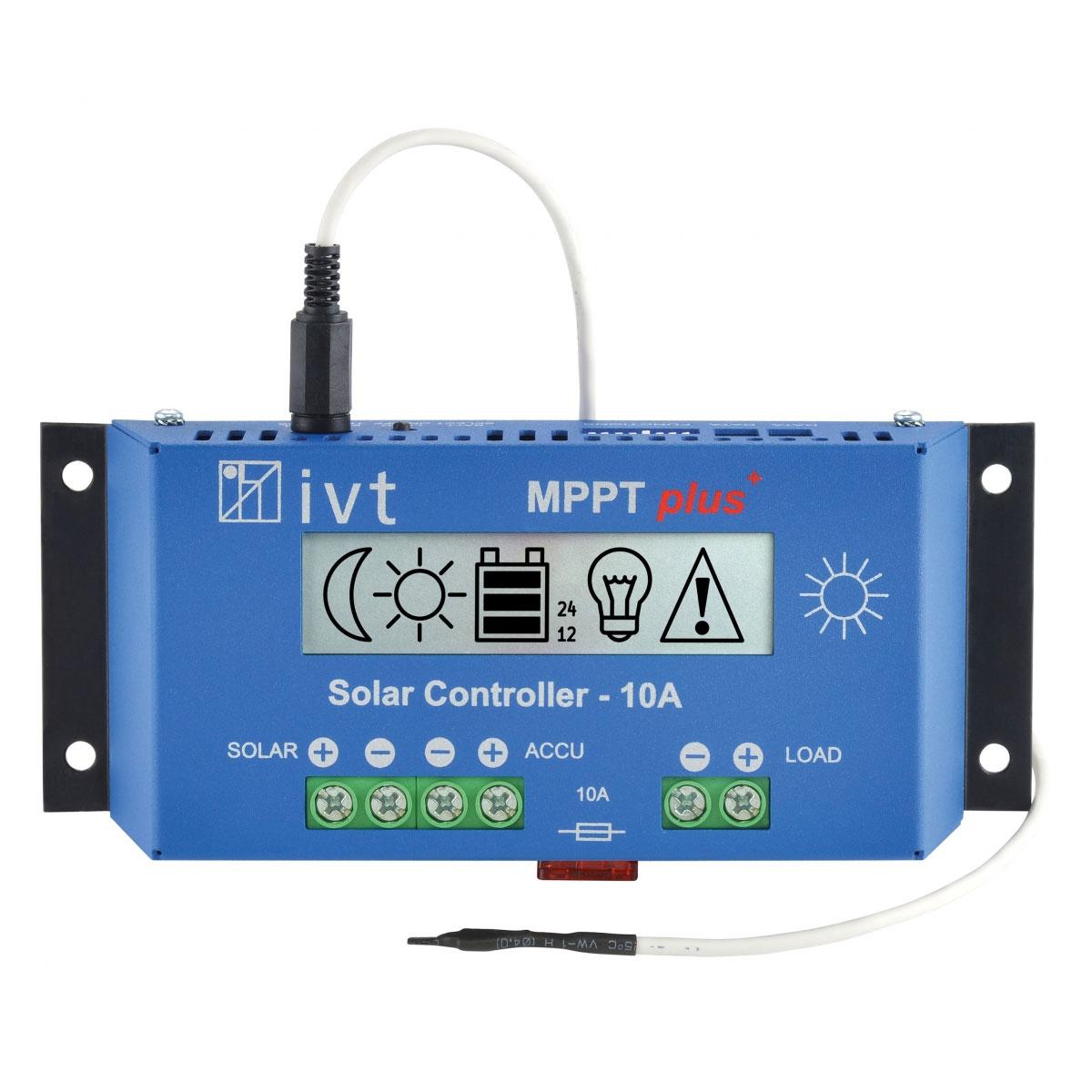 MPPTplus+10A napelemes töltésvezérlő