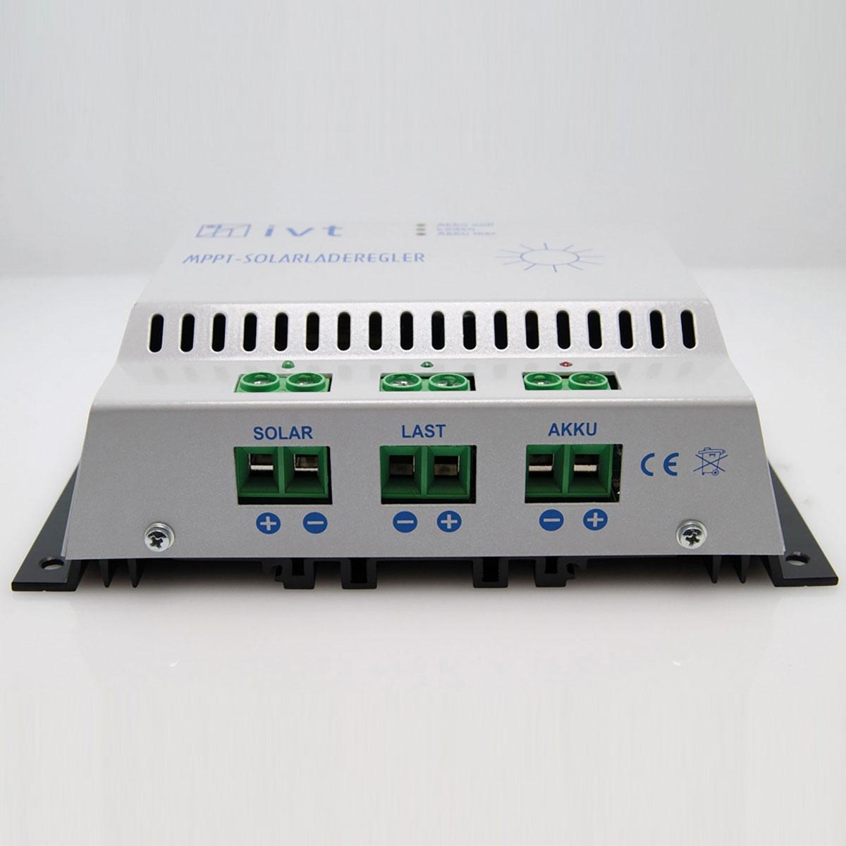 MPPT 30A napelemes töltésvezérlő