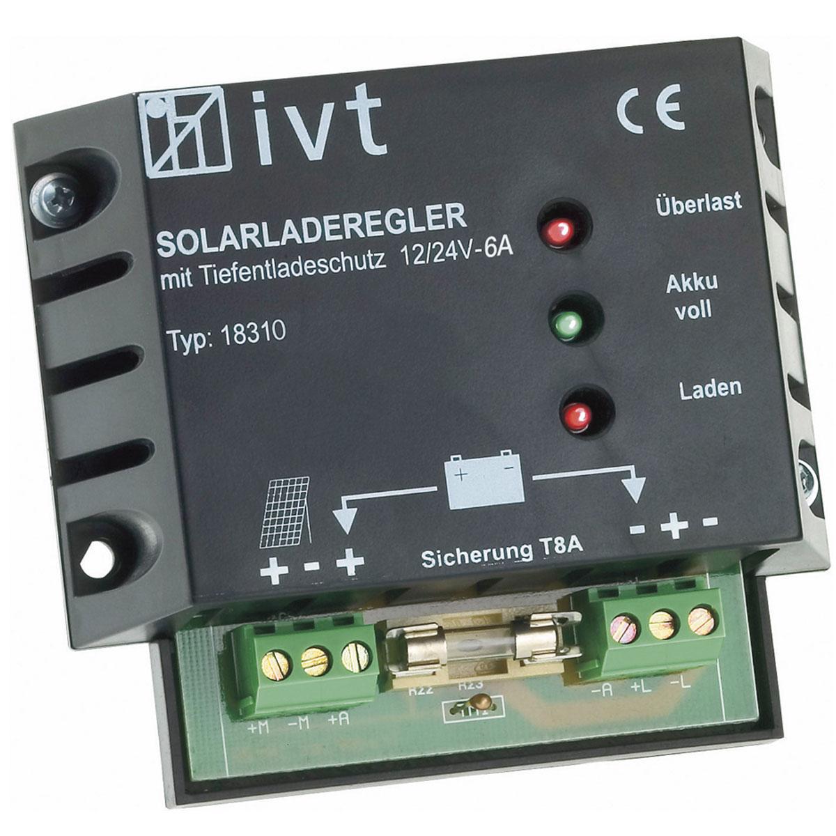 12V/24V napelemes töltésvezérlő 6A