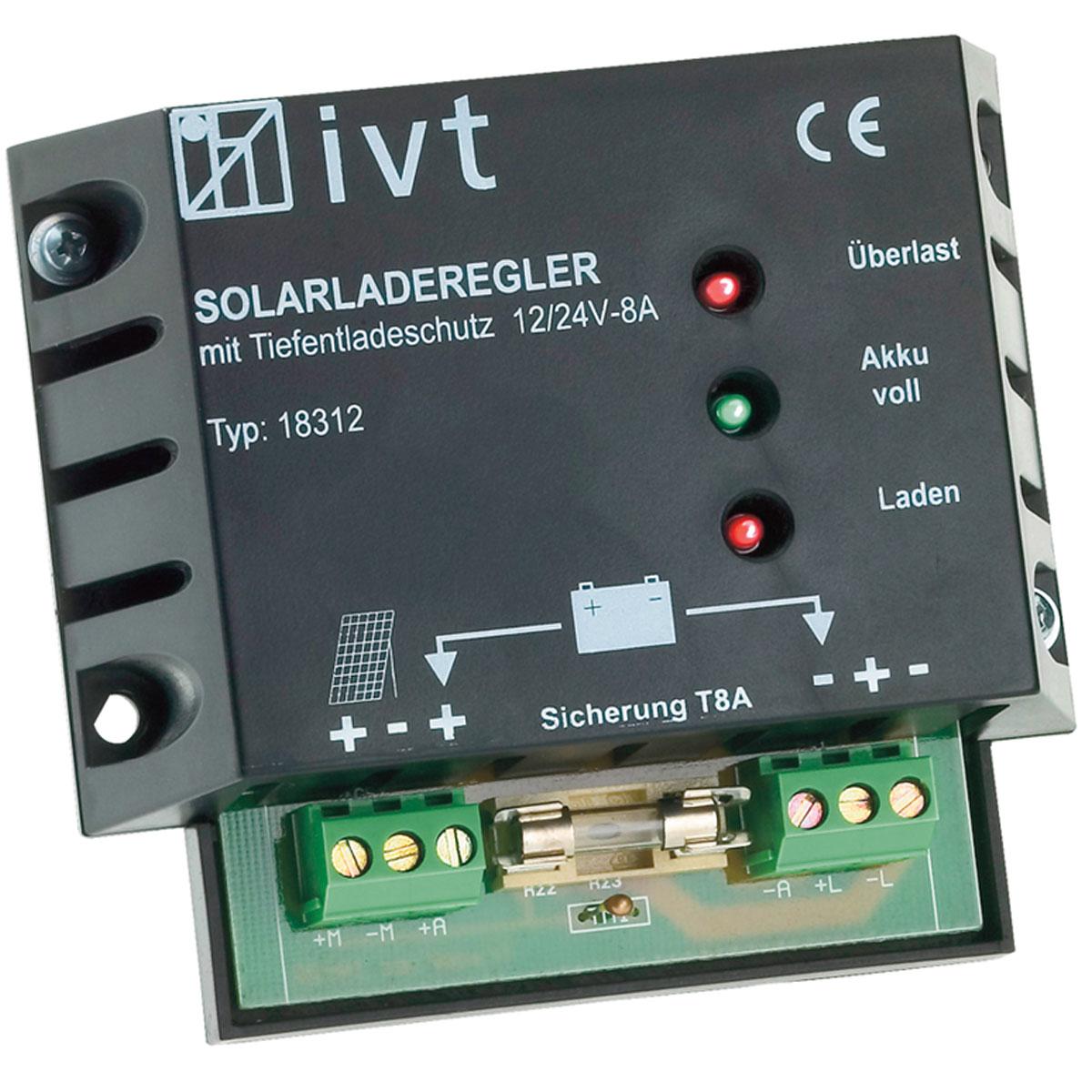 12V/24V napelemes töltésvezérlő 8A